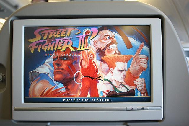 機内のテレビゲーム
