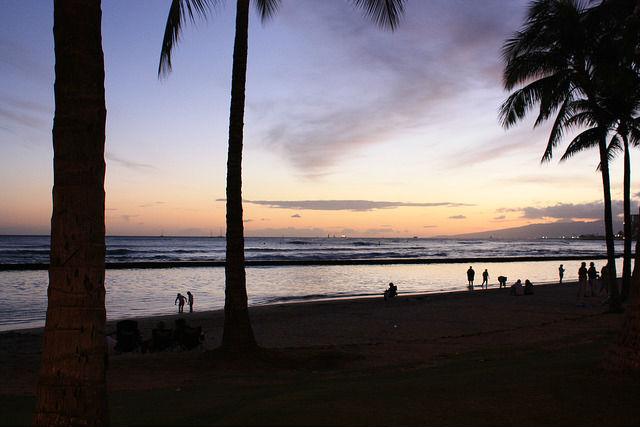 夕方のハワイ