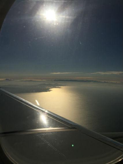 長崎旅行:飛行機の窓から