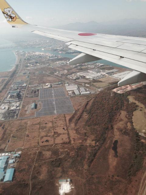 飛行機の窓から北海道