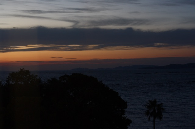 白浜の夕焼け