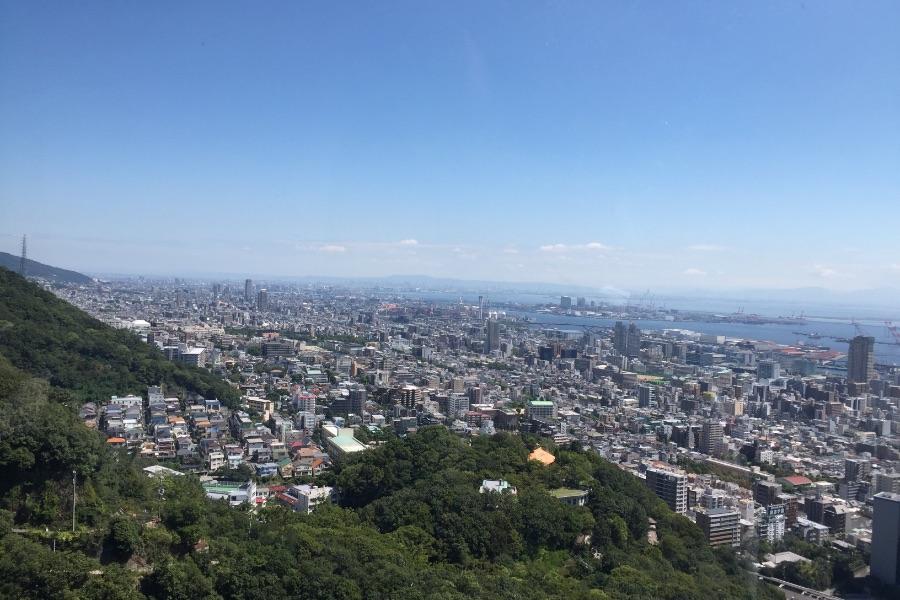 神戸布引ハーブ園頂上からの景色
