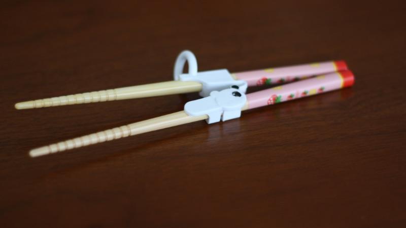 【3歳】正しくお箸を持てるようになりました