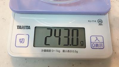 茶茶急須は243グラム